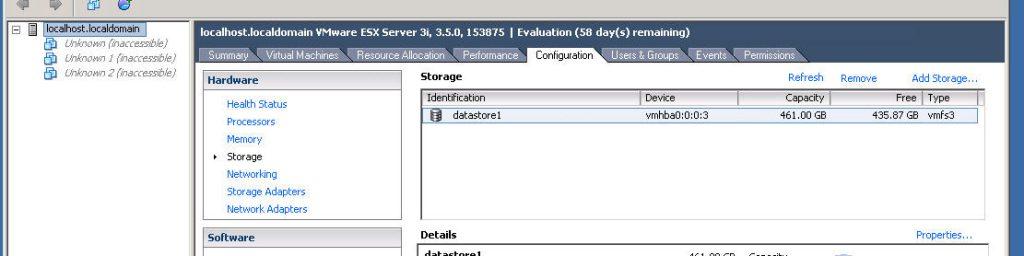 Persistent Storage Esx 1