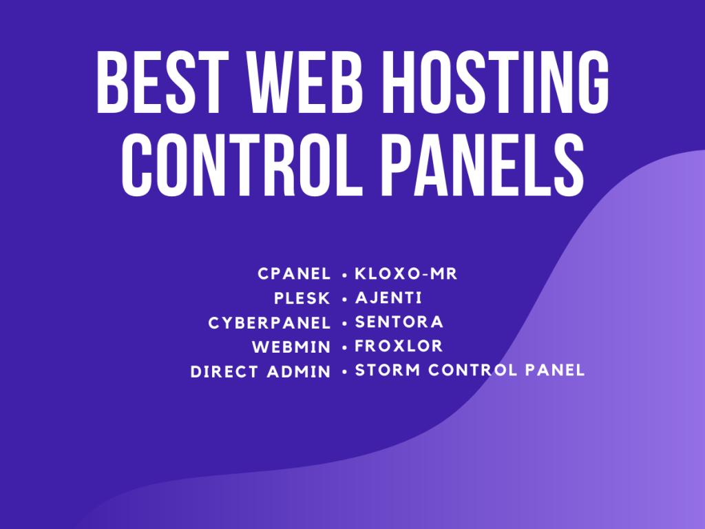 Best Web Hosting Control Panels