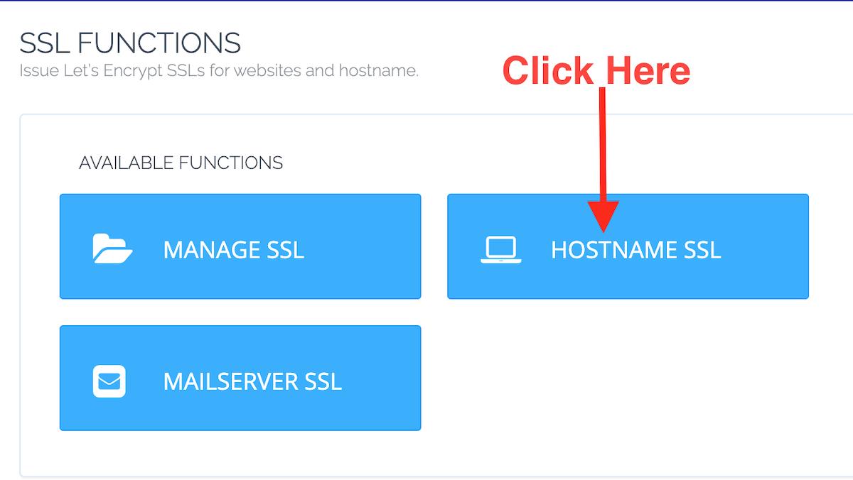 Cyberpanel Hostname Ssl